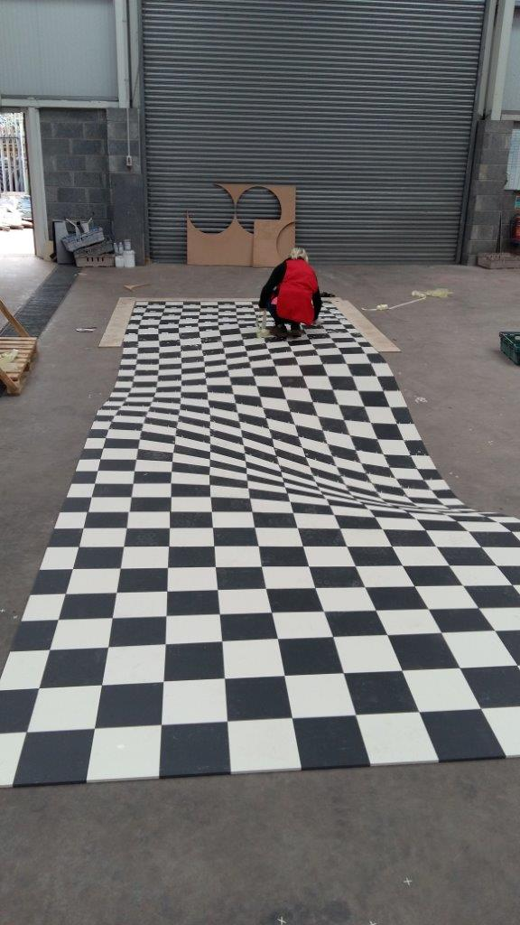 Alice in Wonderland Inspired Optical Illusion Floor (Made by Armatile) - Dry Laid on Armatile Floor (3).jpg