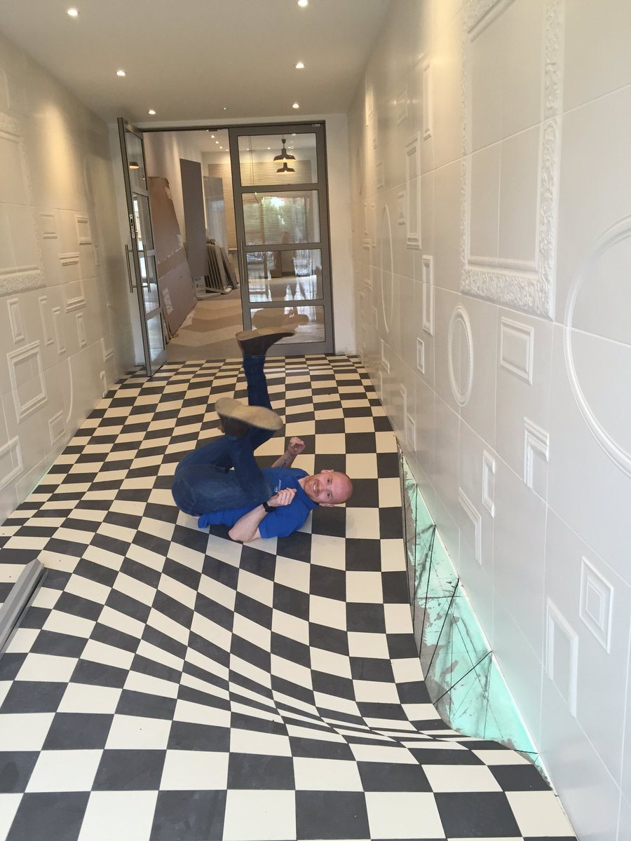 Having Fun at Casa Ceramica, Manchester - Optical Illusion Floor Made by Armatile (1).jpg
