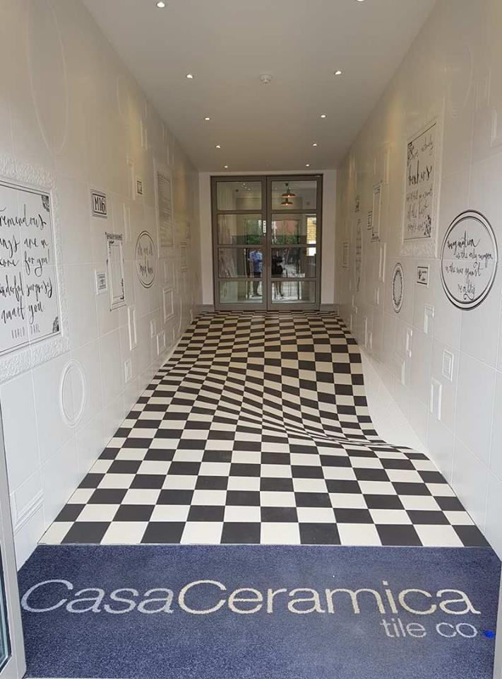 Having Fun at Casa Ceramica, Manchester - Optical Illusion Floor Made by Armatile (3).jpg