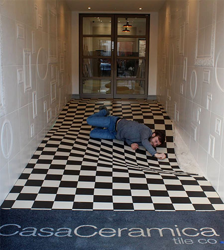 Having Fun at Casa Ceramica, Manchester - Optical Illusion Floor Made by Armatile (4).jpg