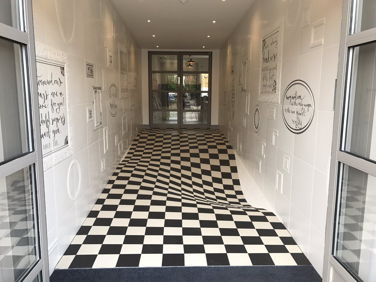 Having Fun at Casa Ceramica, Manchester - Optical Illusion Floor Made by Armatile (5).jpg