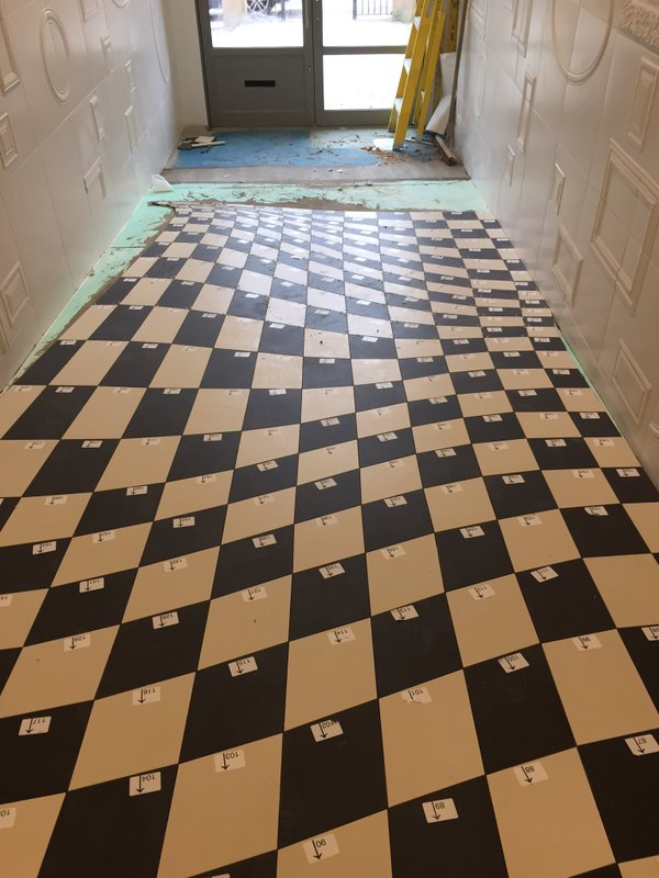 Installation of Optical Illusion Floor at Casa Ceramica (Made by Armatile) - Tiles Numbered (1).jpg