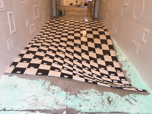 Installation of Optical Illusion Floor at Casa Ceramica (Made by Armatile) - Tiles Numbered (2).jpg
