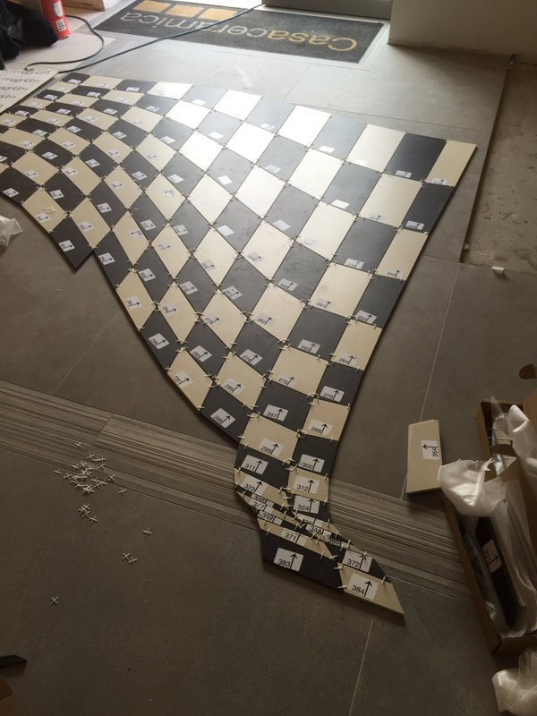 Installation of Optical Illusion Floor at Casa Ceramica (Made by Armatile) - Tiles Numbered (3).jpg