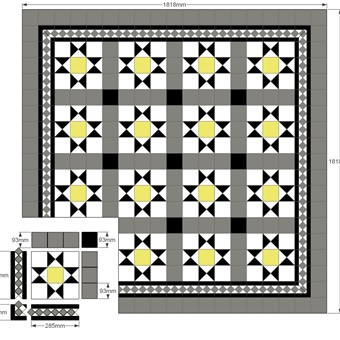Modular Split - Donard Sonne  Panel in Tollymore Layout with, Grey and Black Field Tiles, Shadow Border and Corner Sizes.jpg