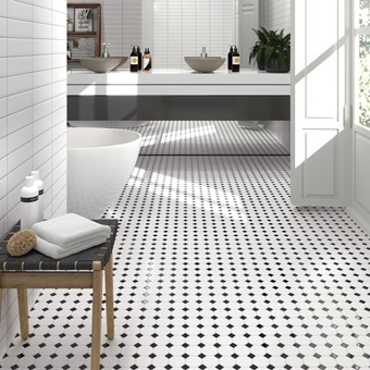 Oxford Octogan & Black Dot Mosaic 29.5x29.5 by Armatile - KN40with metro blanco mate 7,5x30 (1).jpg
