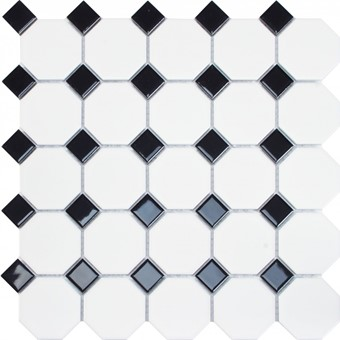 Oxford Octogan & Black Dot Mosaic 29.5x29.5 by Armatile - KN40with metro blanco mate 7,5x30 (2).jpg