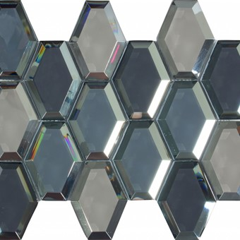 Summum Glass Hexagon Mosaic 25x32 By Armatile - D788 Set with Selene Dark 90x90 (2).jpg