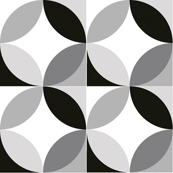 Chic Circ B&W (R10) 4 Tile Swatch by Armatile.jpg