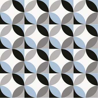 Chic Circ Sky Blue (R10) 20x20 by Armatile - 16 Tile Swatch.jpg