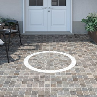 Grey Cobble Mix (RONAUR55T) with Grey White Arc 60x60x2cm Feature (RONAUR57T).jpg