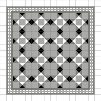 Donard Monochrome Panels - Sample Laying Patterns (6) with Gosford Pavilion Grey Border and White Field Tiles.jpg