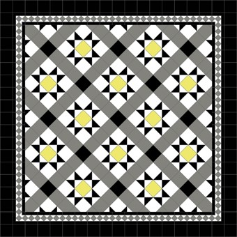 Donard Sonne Panels in Tollymore Pattern tollymore (diamond) with Shadow Grey Border, Shadow & black Field Tiles (2).jpg