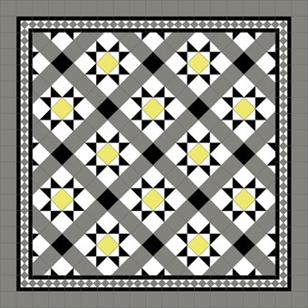 Donard Sonne Panels in Tollymore Pattern tollymore (diamond) with Shadow Grey Border, Shadow & Black Field Tiles.jpg