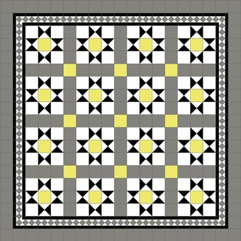 Donard Sonne Panels in Tollymore Pattern tollymore (straight) with Shadow Grey Border, Shadow & Sun Field tiles.jpg