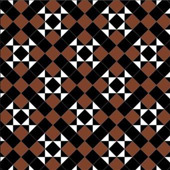 Donard Cotto Panels in Tollymore Pattern (diamond) with Black and cotto field tiles.jpg