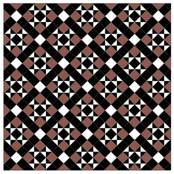Donard Cotto Panels in Tollymore Pattern (diamond) with Black and white field tiles.jpg