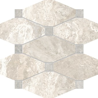 Armatile - Streambed Stone Bone Octagon Mosaic Sheet.jpg