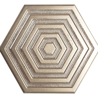 Origins Metal Hexa Silver Tile 19.8x22.8 from Armatile.jpg